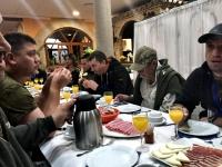 Завтрак у Хосе перед жеребьевкой секторов